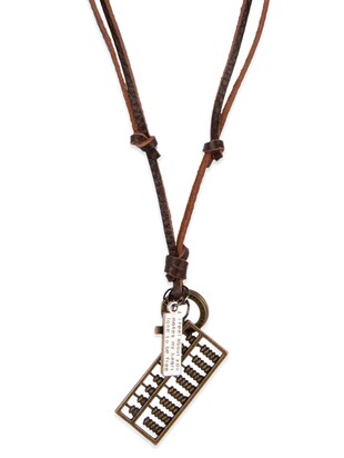 Diva Walk brown leather necklace