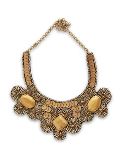 Gold Floral Neckpiece - Accessory Bug