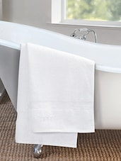 White 100% Cotton Bath Towel - By