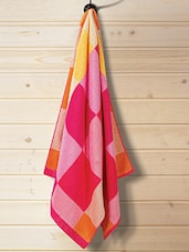 Pink 100% Cotton Bath Towel - By