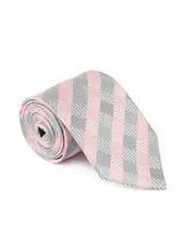 pink grey color, microfiber neck- tie -  online shopping for Ties
