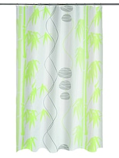 Green Printed Polyester 1 Piece Shower Curtain - By - 1212579