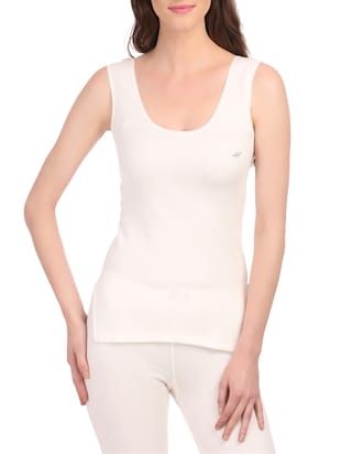white cotton thermal camisole