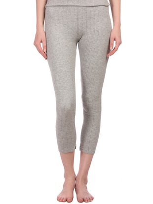 grey cotton thermal wear bottom