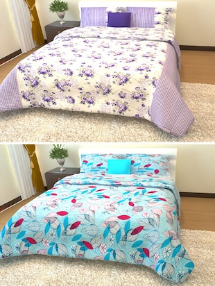 Story @ Home 100% Cotton 2 Double Bedsheet With 4 Pillow Cover