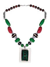 Multi Metal Tribal Pendant Necklace - By