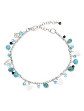 silver acrylic beads anklet -  online shopping for anklets and payals