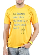 yellow polyester tshirt -  online shopping for T-Shirts