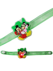 Multicolour Rubber Kids Rakhi - By