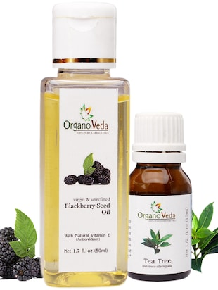 Organoveda Blackberry and tea Tree oil combo