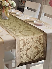 Lushomes Natural Jacquard Runner with High Quality Polyester Border -  online shopping for Table Runners