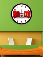 Red Plastic I Love You Wall Clock - By
