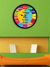 Multicolor Plastic 12 Things To Make Wall Clock - By