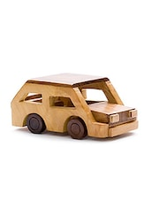 Desi Karigar Beautiful Wooden Classical Vintage Car Toy Showpiece - By