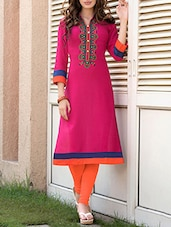 pink cotton semistitched kurti -  online shopping for kurtis
