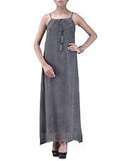 Grey Maxi Dress - By