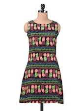 Multicolor Printed Poly Crepe Dress - By