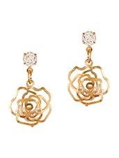 Gold Metal Drop Earrings - By