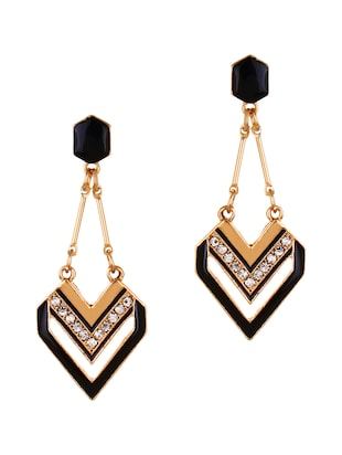 gold metal drop earrings -  online shopping for earrings