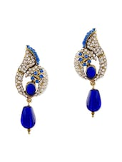 Blue Brass Drop Earring - By