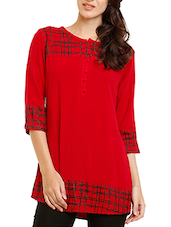 red rayon straight kurti -  online shopping for kurtis