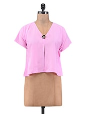 Solid Pink Polygeorgette Shrug - By