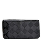 Textured Black Leatherette Wallet - By - 1218411