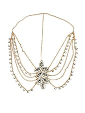 Gold embellished brass head chain -  online shopping for Hair accessories