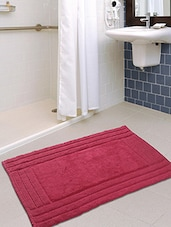 Pink Cotton Large Bath Mat - By