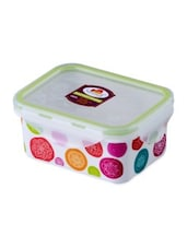 Multicolor Melamine Rectangular Food Container - By - 1218689