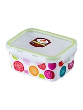 Multicolor Melamine Rectangular Food Container - By - 1218701