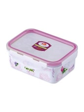 White Melamine Rectangular Food Container - By