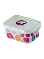 Multicolor Melamine Rectangular Food Container - By - 1218725