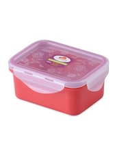 Red Melamine Rectangular Food Container - By - 1218727