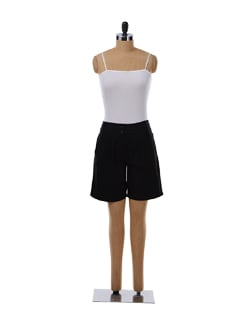 Black Pleated Shorts - NUN