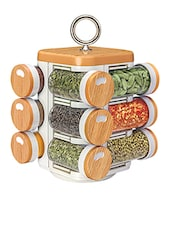 Kitchen Mate 12 Jar (Wood Finish) -  online shopping for Spice Racks