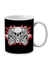 Black Ceramic Skulls Mug - By - 1219379