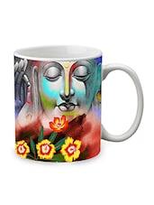 Blue Ceramic Saint Mug - By