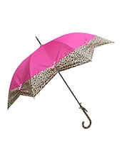 Murano Stairght  Purple color with Leopard Design Stylish Umbrella for Women -  online shopping for Umbrellas