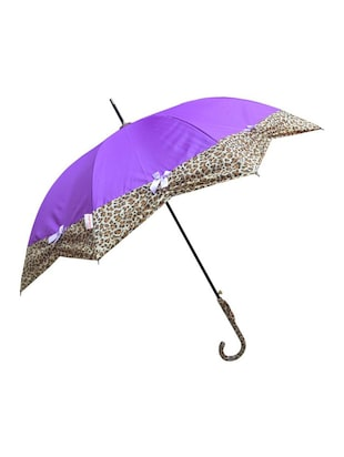 Murano Stairght puple color with Leopard Design Beautiful  Umbrella for Women -  online shopping for Umbrellas