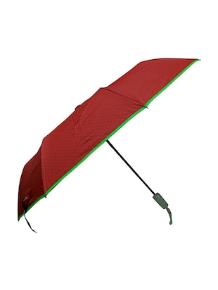 Murano 3 Fold Solid Color with White dot Inside yellow green piping Fahion umbrella -  online shopping for Umbrellas