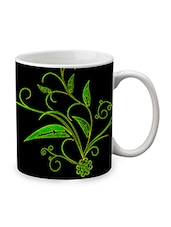 Black Ceramic Printed Mug - By