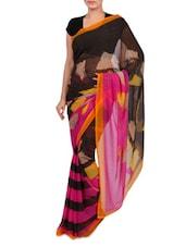 Multicolor Printed Georgette Half & Hlaf Saree - By