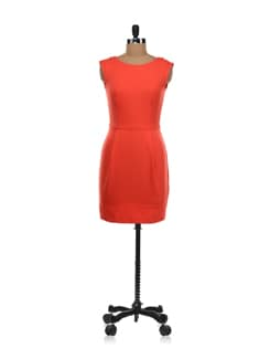 Moroccan Orange Knitted Sheath Dress - Forever  New