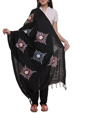 black printed woolen shawl -  online shopping for shawls