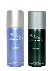 Jaguar Classic Blue and Classic Green Body Spray Deodorants for Men (Set of 2 x 150 ml) -  online shopping for Deodorants