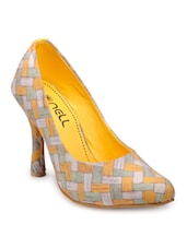 yellow canvas pumps -  online shopping for pumps