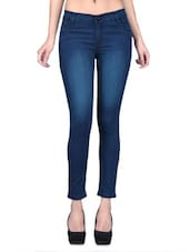 Blue Denim Lycra Stretchable Jeans - By