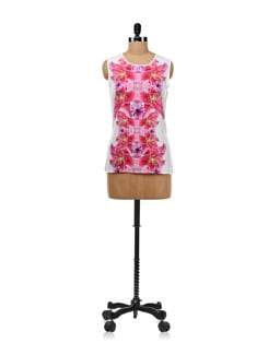 Floral Symmetry Sleeveless Top - Forever  New