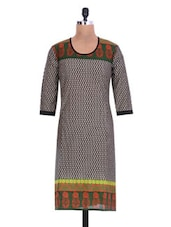 Multicolored Cotton Printed Kurta - By - 1222399